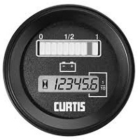 CURTIS BATTERY INDICATOR & HOURMETER 12-80 VDC